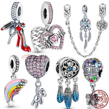 2020 New 100% Real 925 Sterling Silver Fish Girl Boy Charm Bead Fit Original Pandora Bracelets DIY Jewelry For Women Gift