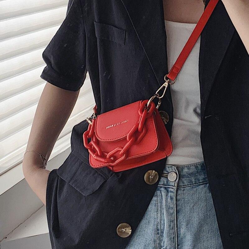 Elegant Female Mini Chain Tote Bag 2020 Summer New High-quality Leather Women's Designer Handbag Travel Shoulder Messenger Bag