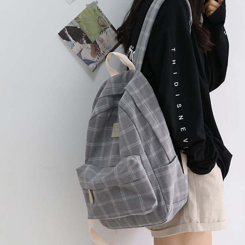 Fashion Girl College School Bag Casual New Simple Women Backpack Striped Book Packbags For Teenage Travel Shoulder Bag Rucksack