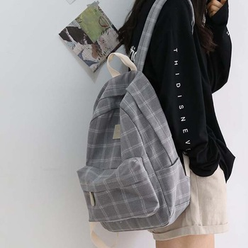 Fashion Girl College School Bag Casual New Simple Women Backpack Striped Book Packbags for Teenage Travel Shoulder Bag Rucksack
