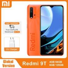 Küresel sürüm Xiaomi Redmi 9 T 4GB 64GB /128GB 9 T Smartphone Snapdragon 662 48MP dört kamera 6000mAh 6.53
