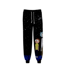 WAMNI3D rick and morty season 4 casual pants women/Men's Hig