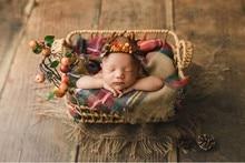 Baby photo full moon photo modeling props basket newborn baby photo frame children's studio modeling basket