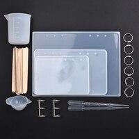 Molde de silicona de resina para joyería, conjunto de herramientas hechas a mano para A5, A6, A7, cubierta de cuaderno, DIY, Moldes de resina epoxi y manualidades