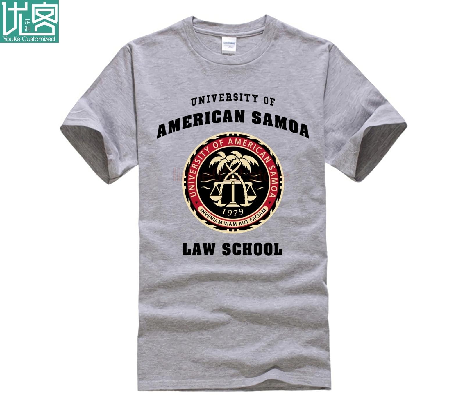 BCS - University Of American Samoa Law School T-Shirt Tops Men's O-shirts