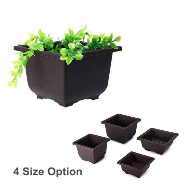 Flower Pot Balcony Square Rectangle Basin Bonsai Plant Planter Bowl Nursery Tray