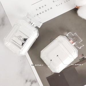 Image 4 - غطاء من السيليكون زجاجة عطر لونين ل Airpods 2 1 سماعة واقية حالة فاخرة للصدمات وانخفاض واضح لينة حافظة تي بي يو
