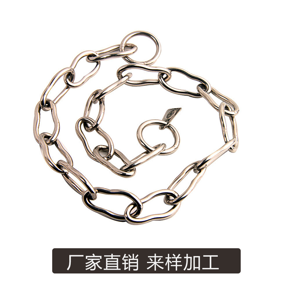 Pet Dog Pendant Dog 8-Word Neck Ring Large Dog P Pendant Stainless Steel Word Collar Does Not Damage Hair Bite-proof Protector