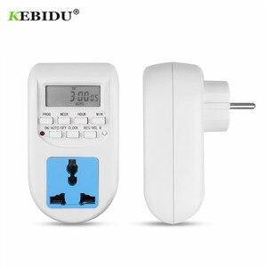 Image 2 - KEBIDU cyfrowa energia ue oszczędzanie energii Timer programowalne elektroniczne gniazdo czasowe Timer sprzęt agd do urządzeń domowych