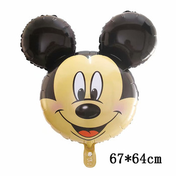 Giant Mickey Minnie Mouse Balloons Disney cartoon Foil Balloon Baby Shower Birthday Party Decorations Kids Classic Toys Gifts 26