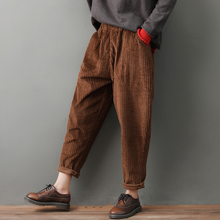 Trousers Color Loose Corduroy