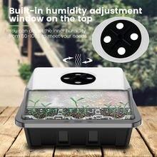 3/5 шт./12 ячеек, Детские горшки с отверстиями, коробка для семян, поднос, вставка, чехол для посадки, пластиковая коробка для выращивания семян ...