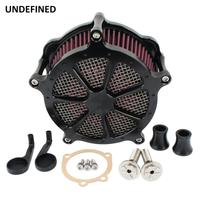 Motorcycle CNC Air Filter Intake Air Cleaner System Kit for Harley Sportster Iron XL 883 1200 48 72 Fourty Eight Superlow Black