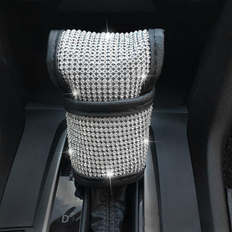 Auto Knob Car Accessories Cover Seat Belt Diamond Shift Gear Cushion Practical