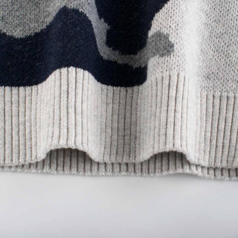 Camouflage trui jongen 2019 winter lange mouw lente gebreide baby meisjes trui jongens trui top 4 8 jaar