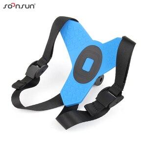 Image 4 - SOONSUN Motorcycle Helmet Front Chin Bracket Holder Strap Mount + Windproof Foam + Frame Case for GoPro Hero 7 6 5 Accessories