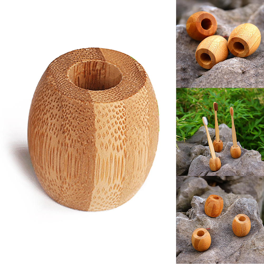 Bamboo Toothbrush Holder Wooden Toothbrush Bathroom Stand Natural Vegan Toothbrush Framework Bamboo Travel Box Bathroom Storage