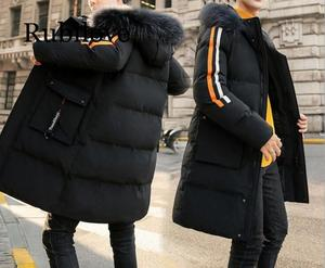 Image 4 - Cotton padded Clothes Mens Mid length 2019 Winter New Style down Jacket Cotton padded Clothes Brushed And Thick Coat Students
