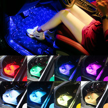Foot-Light Interior Music/voice-Control Wireless Decoration Atmosphere Car-Styling Lampstrip
