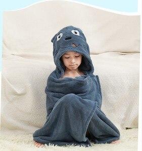 Image 4 - 新生児コットンベビータオル子供のためスタッフベビーバスタオル赤ちゃんフード付きポンチョタオル綿子供バスタオル漫画の動物