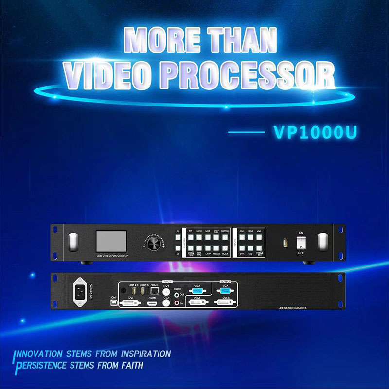 Listen VP1000U video processor with WIFI and USB play wireless projection support PIP 2 65 million and freeze function 4K input