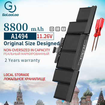 Golooloo 8800mAh New A1494 Laptop Battery for Apple Macbook Pro 15