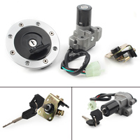 Motorcycle Ignition Switch Fuel Gas Cap Cover Seat Lock w/ Key For Suzuki GSXR1000 SV650 TL1000R GSF1200 GS500 RGV250