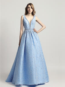 Evening-Dresses Party-Gowns Robe-De-Soiree Dubai Arabic Backless Floor-Length Formal