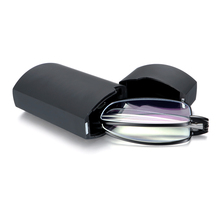 Gafas plegables para leer con estuche para mujer y hombre luz azul que bloquea la lectura presbicia con aumento gafas + 1,00 Glasses + 4,00