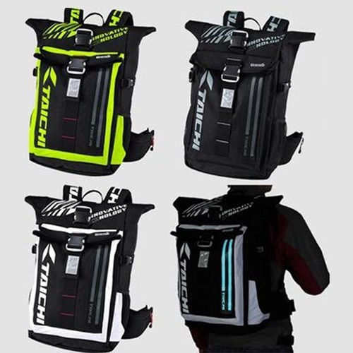 Motorcycle Knight Backpack RSB272 Outdoor Travel Locomotive Waterproof Race Car Backpack LED Night Riding Cold Light Lamp