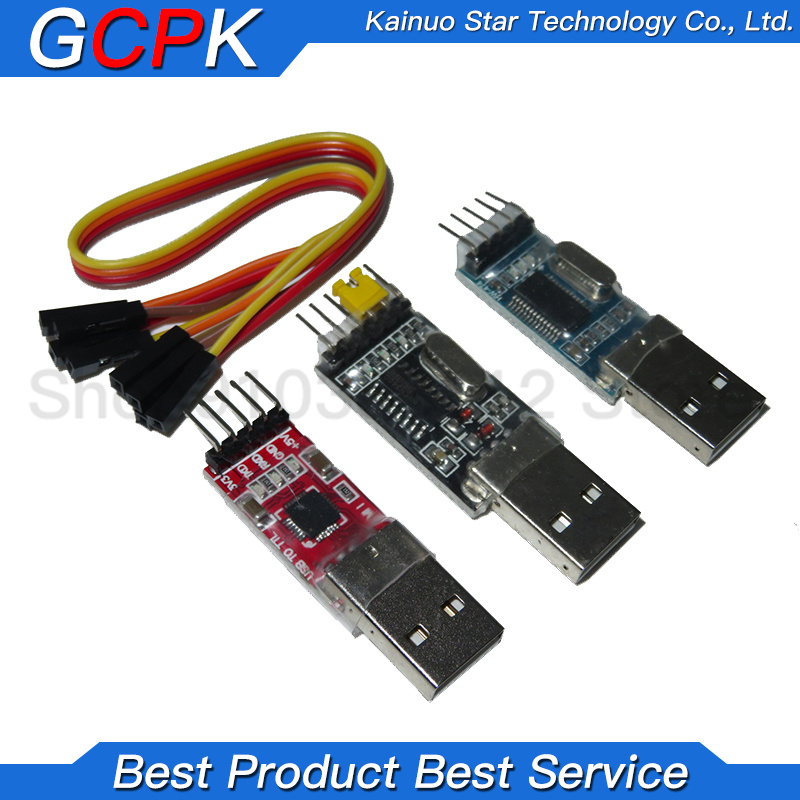 3 шт./лот = 1 шт. PL2303HX + 1 шт. CP2102 + 1 шт. CH340G USB для TTL для arduino PL2303 CP2102 5PIN USB для TTL модуля UART