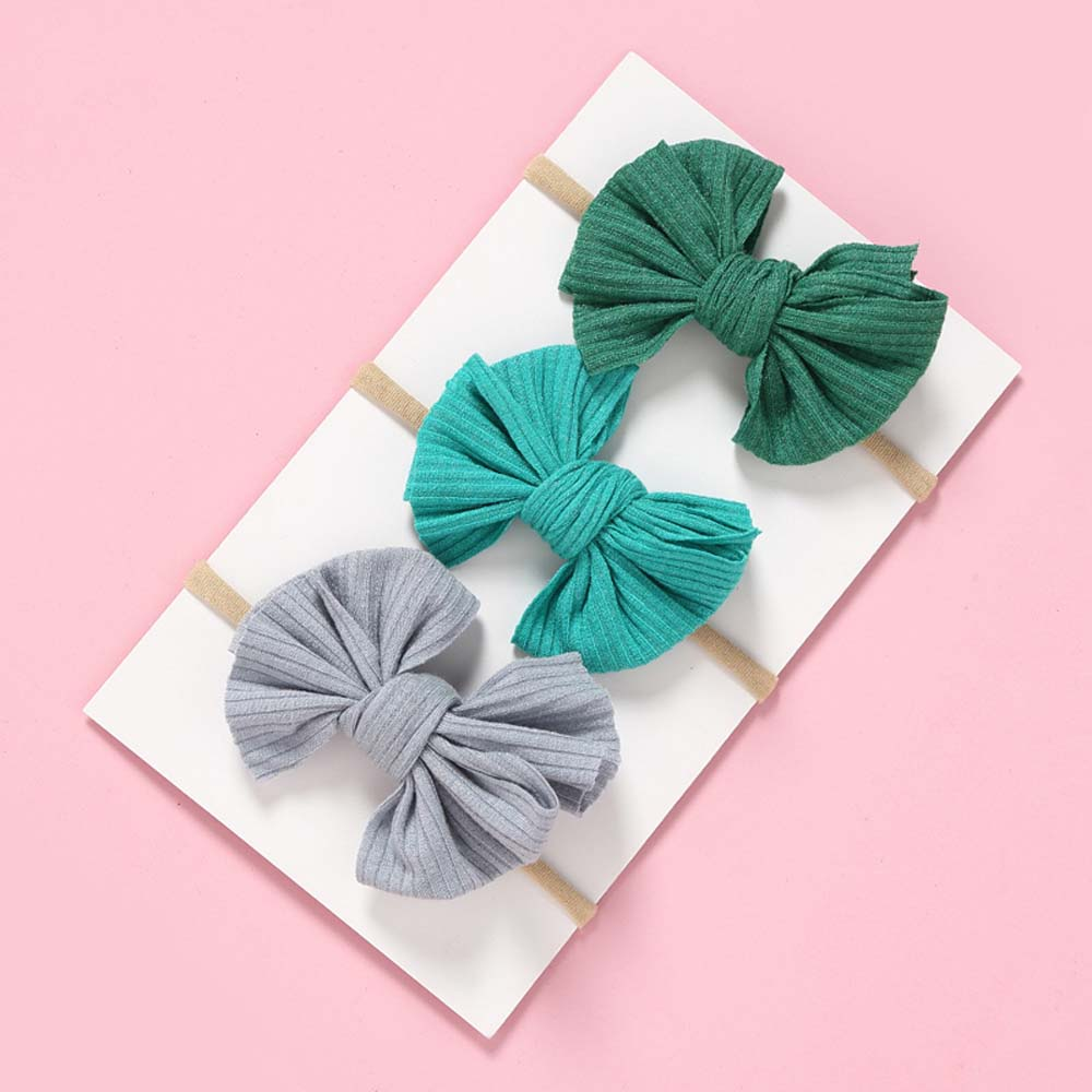 Candy Color Baby Girls Bowknot Nylon Headband Newborn Elastic Hair Ring Child Kids Hair Band Headwear Accessories Gift