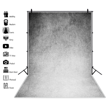 Laeacco Grunge Gradient Solid Color Gray Portrait Photography Background Vinyl Customize Photographic Backdrop For Photo Studio