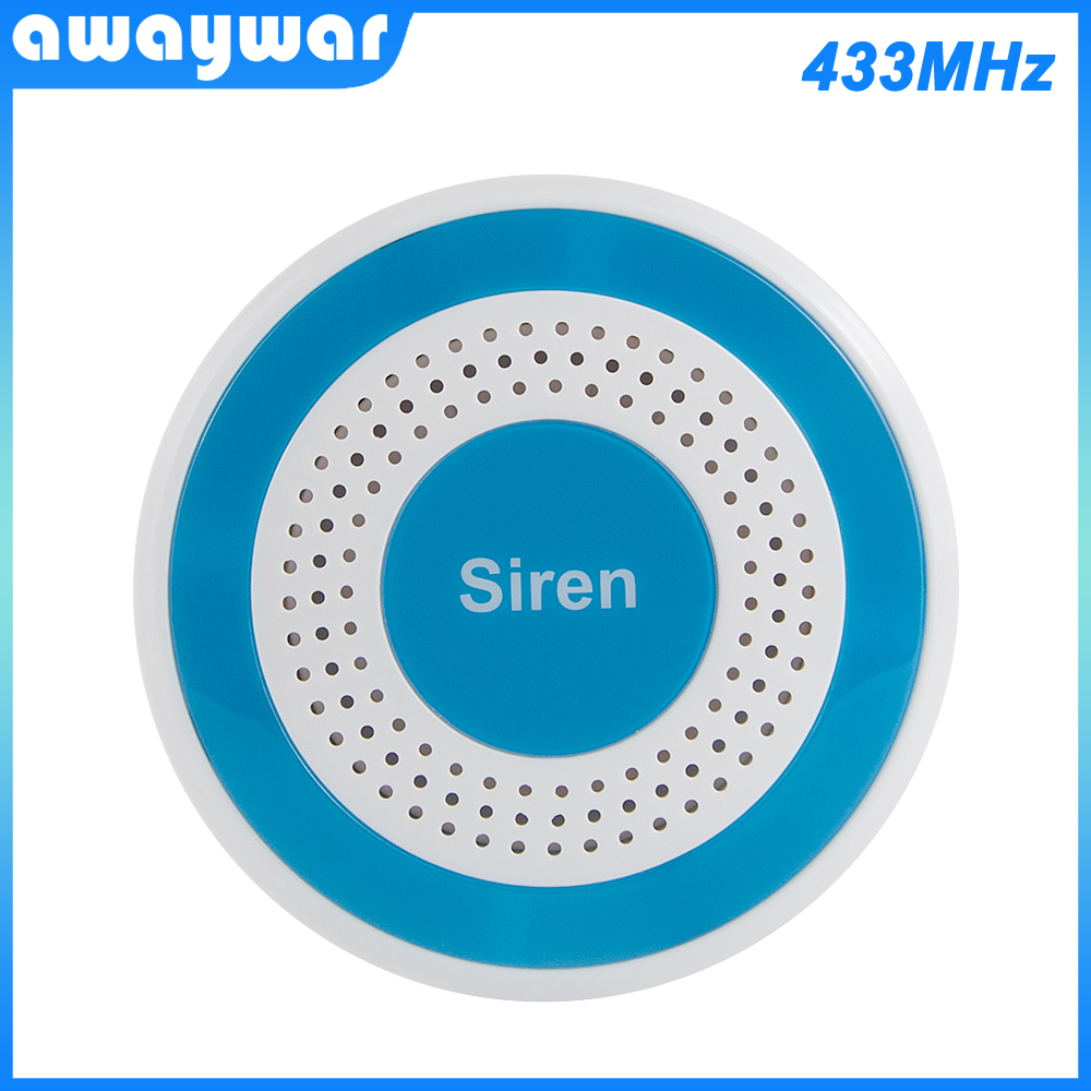Awaywar 433MHz Wireless Siren Sound and Light Standalone Siren 100dB For Home Security Sound Alarm   System DIY Kit