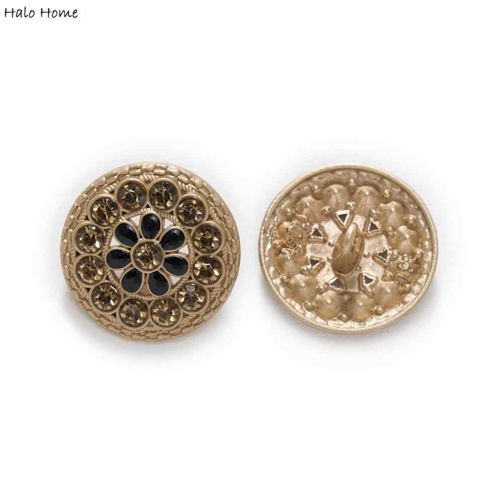5pcs Enamel Square Shank Buttons Sewing Scrapbook Repair Clothing Headware Decor