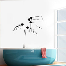 Pedicure Vinyl Wall Decal Beauty Salon Nail Decor Interior Wall Stickers Removable Mural A381
