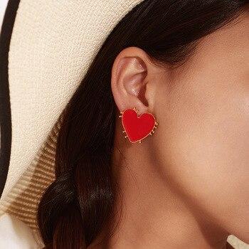 Retro Bohemia Style Big Red Heart Earrings Acrylic Statement Stud Earring For Women Charm Wedding Jewelry.jpg 350x350 - Retro Bohemia Style Big Red Heart Earrings Acrylic Statement Stud Earring For Women Charm Wedding Jewelry Party