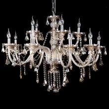 цена на Honhill Modern Chandelier Light K9 Crystal Glass Light Pendant Living Room Light Cognac Color E14 220V