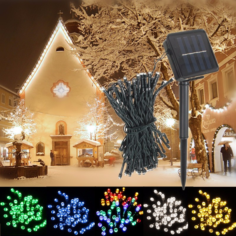 8M 60 Led Solar Power Fairy String Light Lamp Party Chrismas Halloween Outdoor Garden Decor