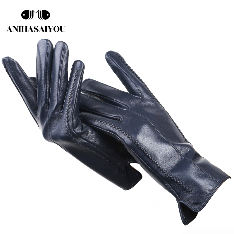 2019 Fashion New Women's Gloves,sheepskin Women's Winter Gloves,multiple Colors Women's Leather Gloves High Grade Gloves-2226C