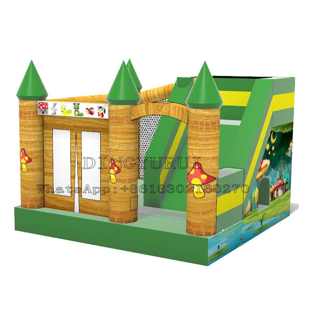 마법의 숲 테마 풍선 바운스 하우스 PVC 풍선 성 반송 콤보