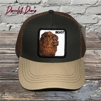 Fashion BEAST PITTBULL Animals Caps Embroidery Mesh Baseball Cap Unisex Women Men Snapback Cap Dad Hat Summer Adjustable Hats недорого