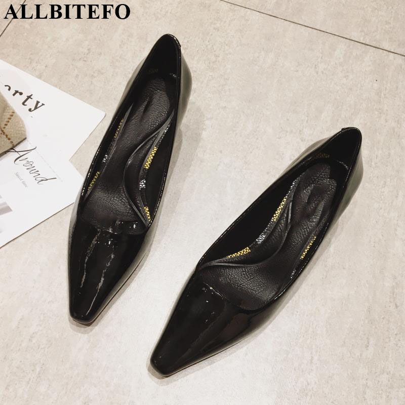 ALLBITEFO High Quality Pu Leather Brand High Heels Women Shoes Office Ladies Shoes Women Heels Girls Shoes Women High Heel Shoes