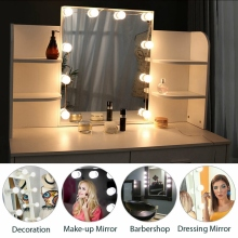 EU Plug Makeup Mirror Light 10 LED Kit Bulb Makeup Light Dimmable Light Hollywood