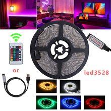 USB светодиод полоса свет DIY гибкий SMD 2835 5050 свет 0,5% 2F1% 2F2% 2F3% 2F4% 2F5meter теплый белый фон освещение украшение фея свет
