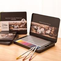 24/36/48/72 colores Color Soluble en agua lápiz Color plomo Color relleno Color lápiz pintura pintada a mano escuela Oficina papelería