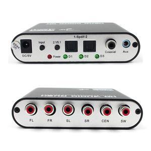 Image 3 - Convertisseur SPDIF optique 5.1 décodeur AC3 DTS Surround son amplificateur 3.5 AUX Coaxial numérique à analogique 6 RCA HD Audio Rush