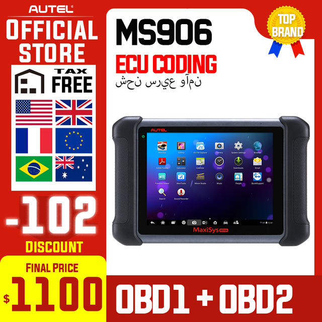 Autel Maxisys MS906 Automotive Diagnostic Scanner Scan Tool Code Reader (Upgraded Version of DS708 and DS808) with OE level