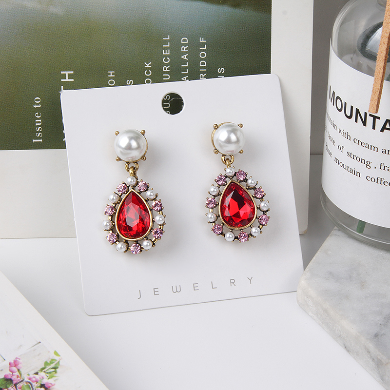 H04c4f676e7ca4c179cd5a58f6ef6b618H - 2019 New Hot Sale 20 Style Red Fashion Korean Elegant Geometric Dangle Earrings for Women Cute Pendant Mujer Jewelry
