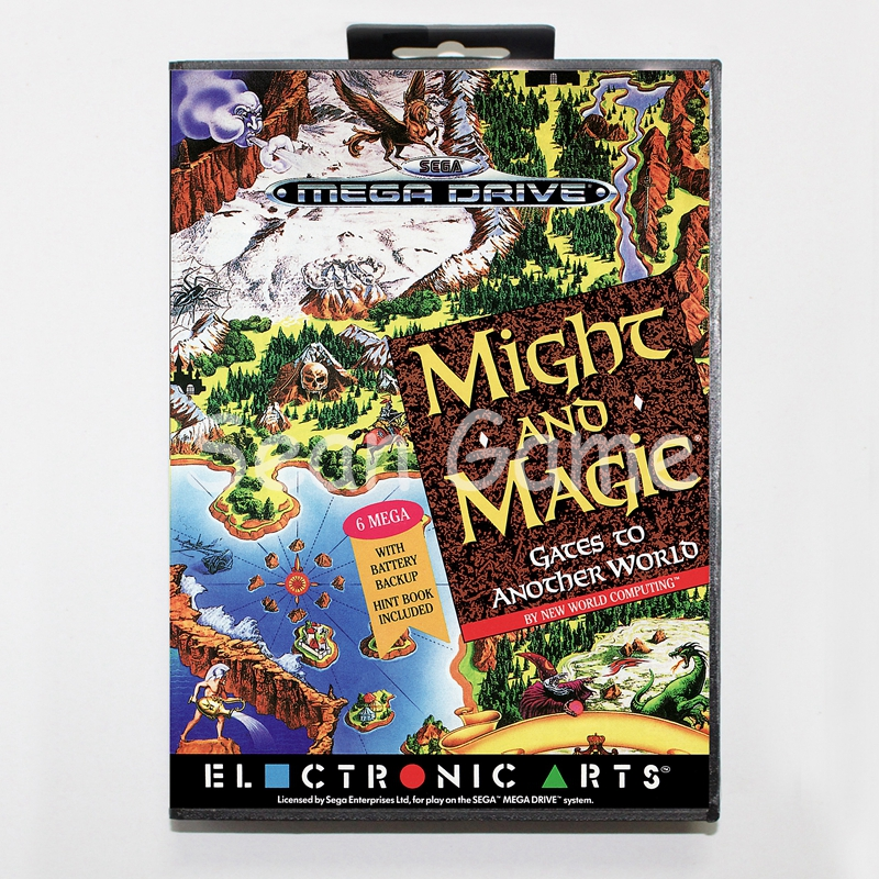 Elevata prestazione 16 Bit MD Game Card for Sega Mega Drive Might and Magic Cover With Retail Box
